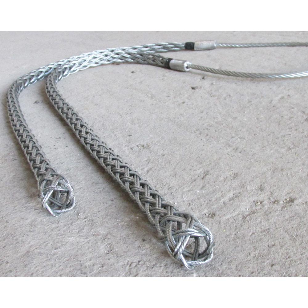 Двупроходен 'чорап' за изтегляне на нов кабел/ въже